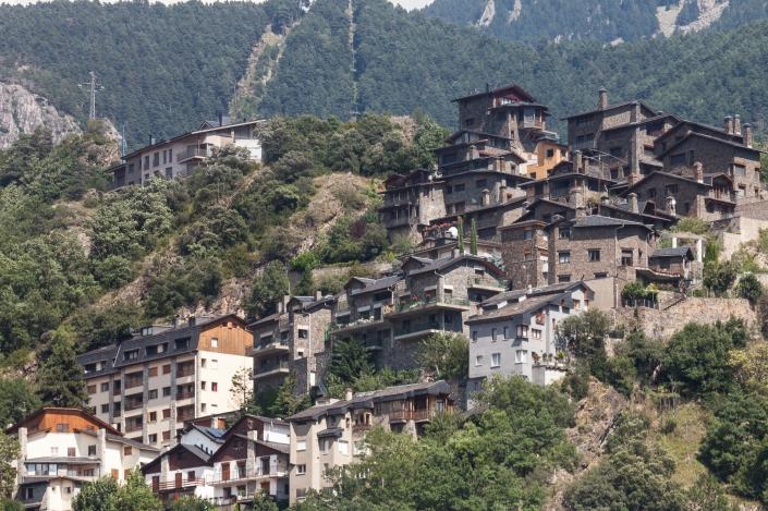 Paisaje Escaldes Engordany Andorra