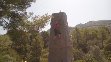 Escalada en la roca...