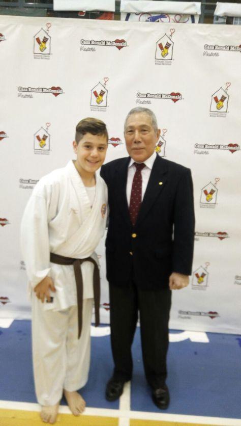 Con el maestro Yasunari Ishimi 10º DAN