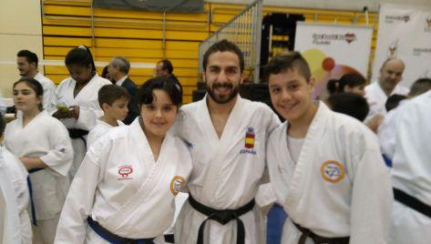 Con Matías Gómez y mi hermana..
