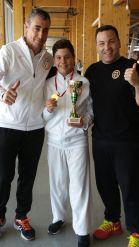 Con mis profesores y entrenadores. Isidoro Escobar e Iván Leal.