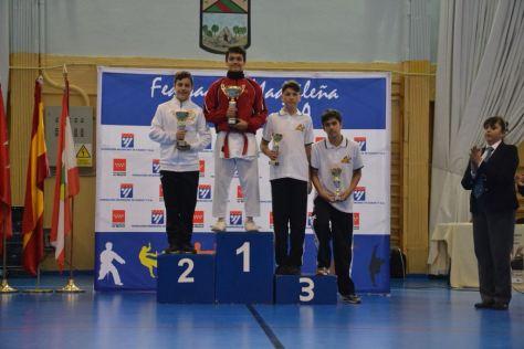Foto del podium de mi categoría (-60 Kgs - Juvenil)