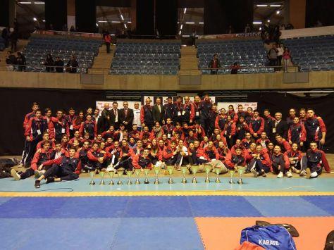 Imagen de todos los componentes de la Selección Madrileña de Karate 2017