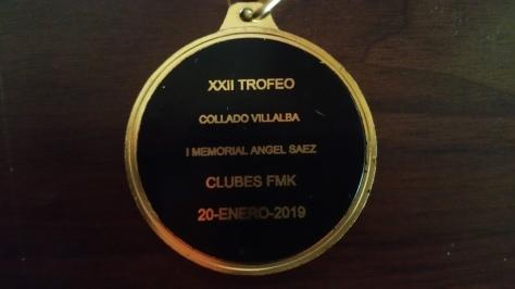 Medalla de Campeón XXII Trofeo Collado-Villalba 1er Memorial Angel Sáez